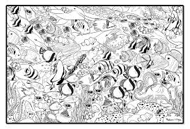 Coral Reef Coloring Page With Wallpaper Background Simple Pages