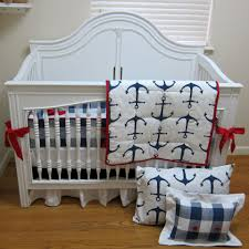 picture of navy anchor crib bedding
