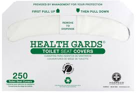 422000399 green 2500 hospeco health gards half fold white recycled toilet seat covers