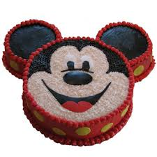 Mickey Mouse Shape Cake 3kg Ammas Cakes Flowers Gifts