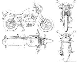 Bmw motorbike drawings