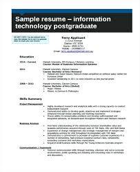 Information Technology Resume Information Technology Resume Sample