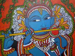 kerala mural designs krishna