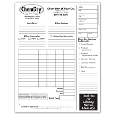 chem dry printing invoices work orders franchise print shop style 1 · invoices work orders
