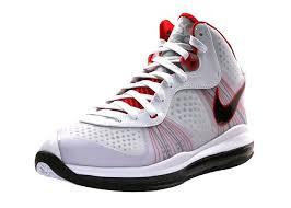 lebron viii shoes. lebron james shoe 2011-nike air max lebron 8 v2 white black red viii shoes