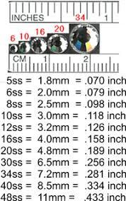 Swarovski Hotfix Crystals Size Chart Swarovski Hot Fix Flat Back Crystal Aurora Borealis