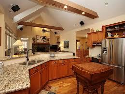 Kitchen With Hardwood Floors Craftsman Kitchen With Built In Bookshelf Exposed Beam Zillow