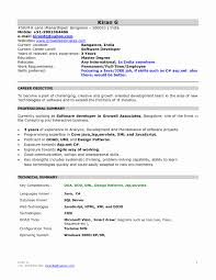 Resume Format For Java Developer With 1 Year Experience Awesome