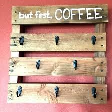 coffee mug rack wall cup racks coffee mug hook rack mug rack pallet coffee cup holder coffee mug rack