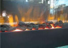 black pebbles electric fireplace