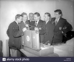 England World Cup 1950 squad just before departing to Brazil Players Stock  Photo - Alamy