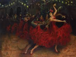 flamenco dancers painting flamenco dancer by anika ferguson