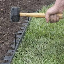 Diy Lawn Edging Ideas Amazoncom Easyflex No Dig Edging Kit 40 Feet Patio Lawn