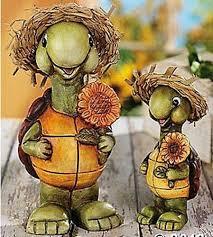 turtle decor yard statues cute turtles