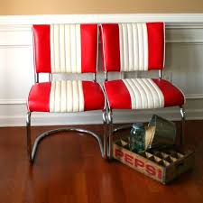 retro office. mid century chairs pair diner red white stripes retro office desk