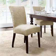 extraordinary sure fit soft suede shorty dining room chair slipcover cotton duck