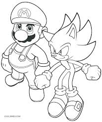 Mario Toad Coloring Pages Coloring Pages Printable Sonic Coloring
