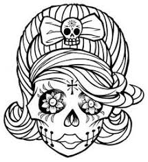 28 Collection Of Day The Dead Sugar Skulls Coloring Pages High