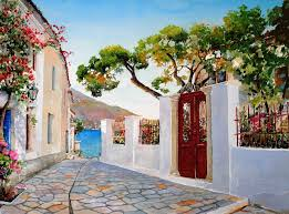 today we want to show you stunning watercolor paintings of greece created by artist pantelis zografos for 30 years pantelis zografos doesn t live in greece