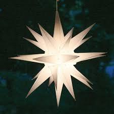 Moravian Star Light Outdoor Elf Logic 21 Large White Moravian Star Bright White