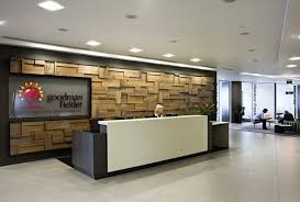 Feature wall in reception. | Office Interiors | Pinterest | Walls,  Commercial office space and Office interiors
