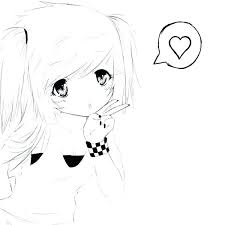 Cute Anime Girl Coloring Pages Free Coloring Library Anime Girl