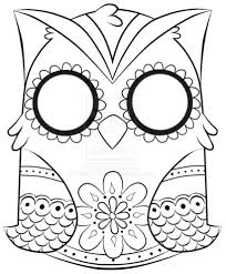 Small Picture Day Of The Dead Owl Coloring Pages Other Free Printable Day Of