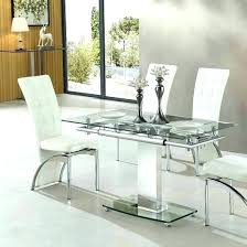 Expandable Glass Dining Room Tables Interior Unique Design