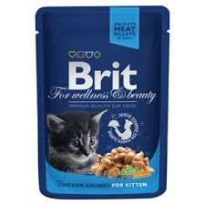 Корм для кошек <b>Brit Premium Cat</b> Pouches Chicken Chunks for Kitten