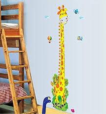 Amazon Com Giraffe Growth Chart Wall Decal Home Kitchen