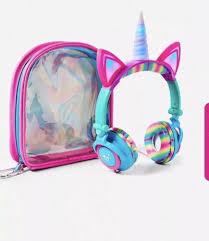 Unicorn Light Up Headphones Brand New Justice Girls Unicorn Light Up Led Headphones