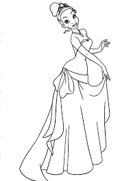 Small Picture Princess Tiana Coloring Pages To Print Coloring Coloring Pages