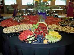 wedding food table reception food
