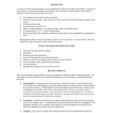 Resume Guidelines Guidelines For Resume Proyectoportal 55