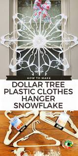 Dollar Tree Plastic Clothes Hanger Snowflake - Big Bear's Wife