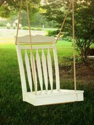 upcyling dining chairs into beds swings and benches