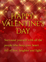 Valentinsday Card Laughter And Light Shining Happy Valentines Day Card Birthday
