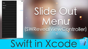 Making A Slide Making A Slide Out Menu Swift In Xcode Swrevealviewcontroller