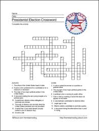 Presidential Election Printables - Wordsearch, Crossword, and More ...