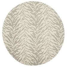 marbella light gray ivory 6 ft x 6 ft round area rug
