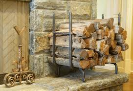 image of simple design fireplace log holder