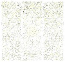 carved wall decor white pier one en washed