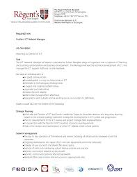 Practice Director Job Description Job Description Ict Manager By The Regent's International School 21