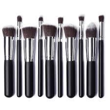 kabuki makeup brush set. 10 pcs gold and silver synthetic kabuki makeup brush set cosmetics foundation blush tool-in underwear from mother \u0026 kids on aliexpress.com   alibaba s