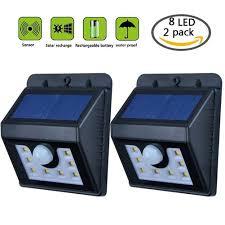 8 led solar light outdoor wireless led motion sensor light waterproof outdoor lamp for garden yard