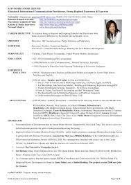 Singapore Resume Format Resume Template Easy Http Www