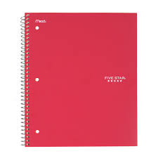 Five Star Graph Paper Notebook Five Star Wirebound Notebook 1 Subject Graph Ruled Assorted Colors 06190 Walmart Com