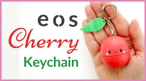 diy eos lip balm eos cherry keychain eos tutorial you