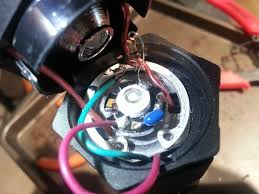 taser emitter has me scratching my head budgetlightforum com the turquoise wire which i assume is the negative led is ered to a retaining ring then a 20 000 ohm resistor connects the retaining ring to the