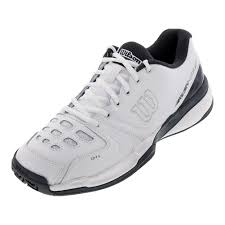wilson uni rush comp leather tennis shoes white and ebony